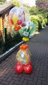 Ein großer Geschenkballon zur bestandenen Prüfung