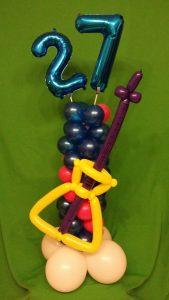 Gitarre, Ballonsäule, Geschenkidee