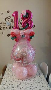 Geschenkballon zum 18.