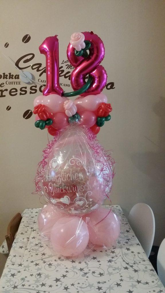 Großer Geschenkballon zum 18.
