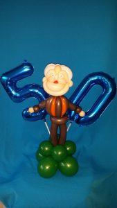 Eine Geschenkidee zum 50. Geburtstag, Opa aus Ballons