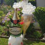 Geschenkidee zur Hochzeit, Sektglas und Sektflasche