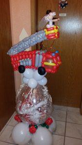 Geschenkballon, Feuerwehr, Auto, Geschenkidee