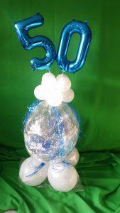 Geschenkballon, Geburtstag, Ballonzahlen