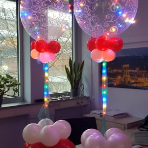 Heliumballons, mit Beleuchtung, durchsichtig