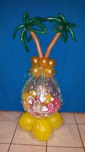 Geschenkballon, Palmen, Urlaub, Urlaubsüberraschung