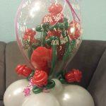 Geschenkballon, Hochzeitstag, Rosen