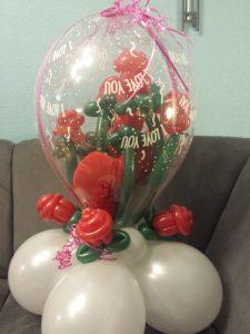 Großer Geschenkballon zum Hochzeitstag