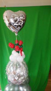 Geschenkballon zur Silberhochzeit, Hochzeit, Rosen