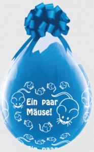 Geschenkballon Ein Paar Mäuse