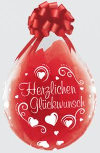 Geschenkballon Herzlichen Glückwunsch