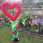 Ein Großes Herz für verschiedene Anlässe, Ballonsäule