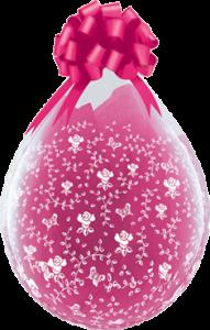 Geschenkballon mit Rosen
