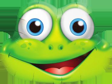 Frosch in Grün
