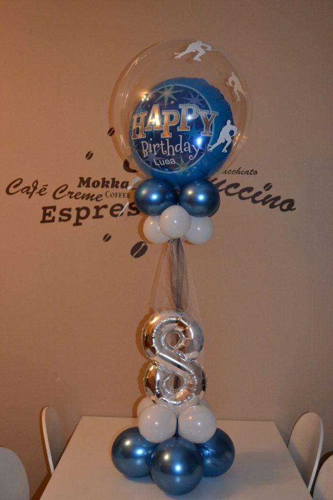Heliumballon Ballonbuqet zum 8. Geburtstag
