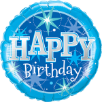 Folienballon Happy Birthday in Blau