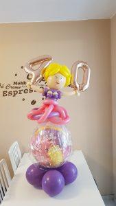 Geschenkballon zum 40. Geburtstag, Ballonzahlen, Frau