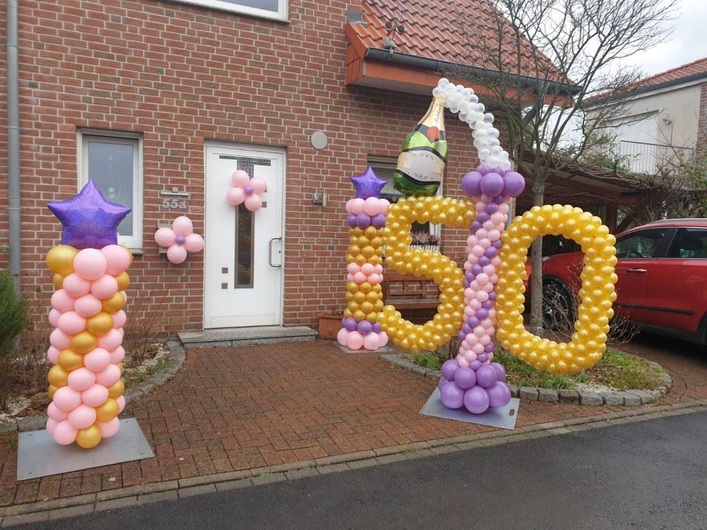 Außendekoration zum 50. Geburtstag